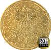 20 Reichsmark Goldmünze aus Bayern mit aktuellem Ankaufswert