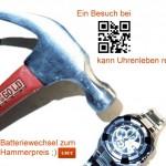 Ein Batteriewechsel für nur 3,95€ bei RoGold kann Uhrenleben retten.
